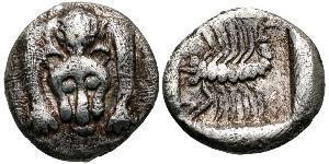 1 Hemiobol Древняя Греция (1100BC-330) Серебро