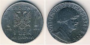 1 Lek Albanian Kingdom (1939-1943) Steel Victor Emmanuel III of Italy (1869 - 1947)