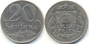 20 Santims Lettland Nickel