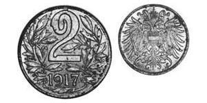 2 Heller Autriche-Hongrie (1867-1918) Iron