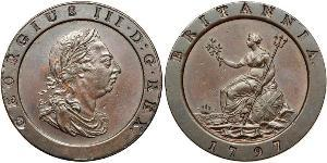 Twopence Kingdom of Great Britain (1707-1801) Copper George III (1738-1820)
