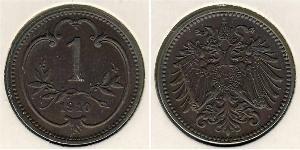 1 Heller Impero austro-ungarico (1867-1918) Bronzo