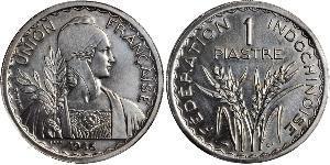 1 Пиастр Французский Индокитай (1887-1954) Никель/Медь