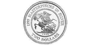 2 Dollar Australien (1939 - ) Silber