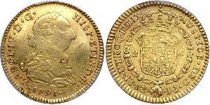 2 Escudo Peru Gold Karl IV (1748-1819)