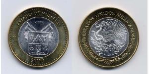 100 Песо Соединённые Штаты Мексики (1867 - ) Биметалл