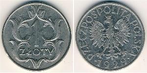 1 Zloty Second Polish Republic (1918 - 1939) Copper/Nickel