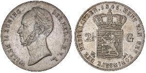 2 1/2 Gulden Reino de los Países Bajos (1815 - ) Plata Guillermo II de los Países Bajos (1792 - 1849)