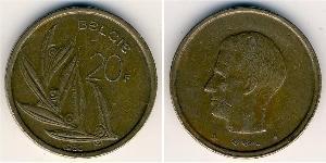 20 Franc Belgium Bronze