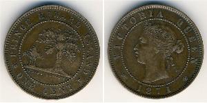 1 Cent Britisches Weltreich (1497 - 1949) Bronze Victoria (1819 - 1901)