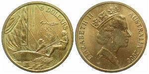5 Доллар Австралия (1939 - ) Бронза/Алюминий Елизавета II (1926-)
