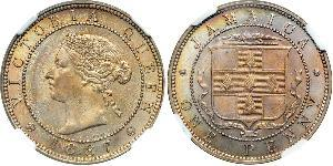 1 Penny 牙买加 镍/銅 维多利亚 (英国君主)