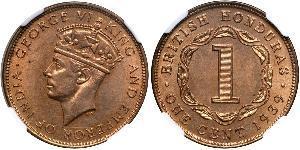 1 Цент Британский Гондурас (1862-1981) Бронза Георг VI (1895-1952)