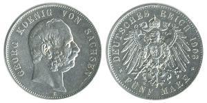 5 Mark Alemania Plata