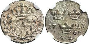 1 Ере Швеція Срібло Фредерік I (король Швеції) (1676 -1751)