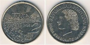 2 Peso Argentina (1861 - ) Rame/Nichel