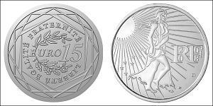 15 Евро Пятая французская республика (1958 - ) Серебро