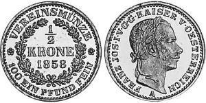 1/2 Krone 奧地利帝國 (1804 - 1867) 金