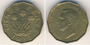 1 Threepence Велика Британія  Латунь Георг VI (1895-1952)
