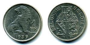 1 Franc Belgio Nichel