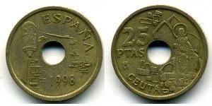 25 Peseta Royaume d'Espagne (1976 - ) Bronze/Aluminium