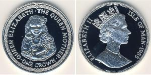 1 Krone Isola di Man  Elisabetta II (1926-)