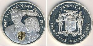 25 Долар Ямайка (1962 - ) Срібло