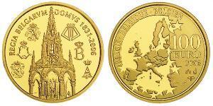 100 Euro Belgium Gold