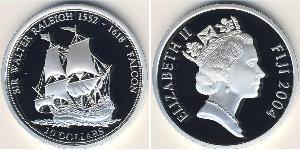 10 Dollar Fiji Silver
