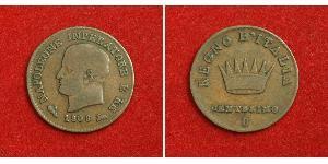1 Centesimo Kingdom of Italy (Napoleonic) (1805–1814) Copper Napoleon (1769 - 1821)