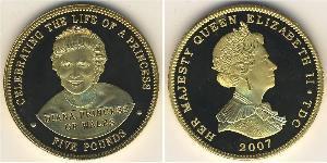 5 Pound Tristan da Cunha (archipel) Argent Elizabeth II (1926-)