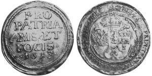 1 Thaler Principato di Transilvania (1571-1711) Argento