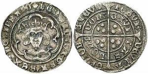 1 Groat Kingdom of England (927-1649,1660-1707) Silver Henry VI (1421-1471)