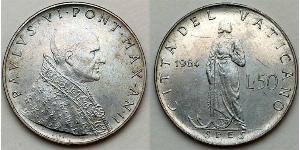 50 Lira Vaticano (1926-)  Papa Paolo VI (1897 - 1978)