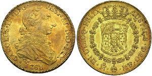 8 Escudo Vicereame della Nuova Spagna (1519 - 1821) Oro Carlo III di Spagna (1716 -1788)