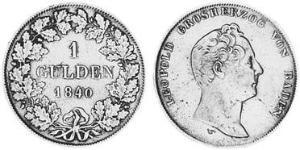1 Gulden Grand Duchy of Baden (1806-1918) Silver