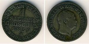 1 Grosh Regno di Prussia (1701-1918) Argento