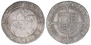 1 Крона(англійська) Королівство Англія (927-1649,1660-1707) Срібло Едвард VI  (1537-1553)