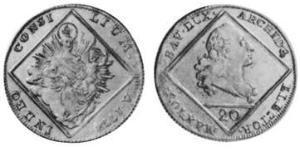 20 Kreuzer Électorat de Bavière (1623 - 1806) Argent Maximilien III Joseph de Bavière(1727 – 1777)