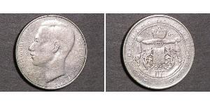 100 Franc Luxemburgo Plata Juan de Luxemburgo (1921 - )