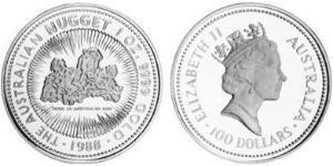 100 Dólar Australia (1939 - ) Oro