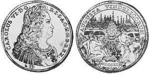 1 Талер Аугсбург (1276 - 1803) Срібло Карл VI імператор Священної Римської імперії  (1685-1740)
