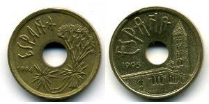 25 Peseta Regno di Spagna (1976 - ) Bronzo/Nichel