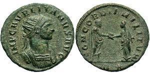 1 Антонініан Римська імперія (27BC-395) Бронза Авреліан (215-275)