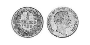 1/2 Kreuzer Grand Duchy of Baden (1806-1918) Copper Frederick I, Grand Duke of Baden (1826 - 1907)