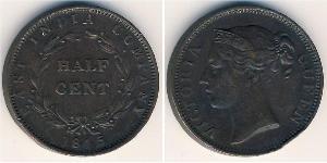 1/2 Cent Straits Settlements (1826 - 1946) Copper