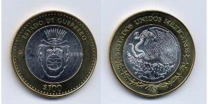 100 Peso Messico (1867 - ) Bimetal