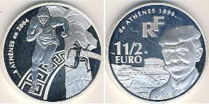 1 1/2 Euro Frankreich Silber