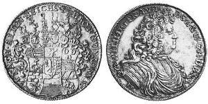 1 Thaler Anhalt-Harzgerode (1635–1709) Plata