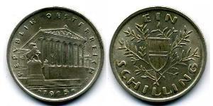 1 Шиллинг Первая Австрийская Республика (1918-1934) Серебро